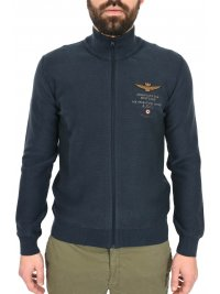 AERONAUTICA MILITARE AERONAUTICA MILITARE ΠΛΕΚΤΟ FULL ZIP REGULAR FIT LOGO ΜΠΛΕ