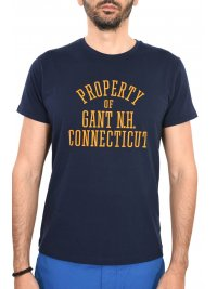 GANT GANT MAN TSHIRT SEASONAL GRAPHIC ΜΠΛΕ