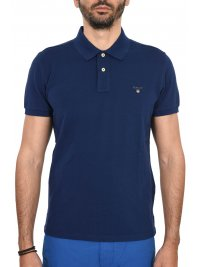 GANT GANT MAN POLO ΚΜ THE ORIGINAL PIQUE RUGGER ΡΟΥΑ ΜΠΛΕ