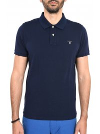 GANT GANT MAN POLO ΚΜ THE ORIGINAL PIQUE RUGGER ΜΠΛΕ