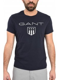 GANT GANT MAN TSHIRT PRINTED SHIELD ΜΠΛΕ