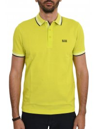 BOSS ATHLEISURE BOSS ATHLEISURE POLO ΚΜ PADDY REGULAR FIT FLUO ΚΙΤΡΙΝΟ