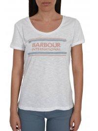 BARBOUR BARBOUR INTERNATIONAL T-SHIRT PEREZ ΦΛΑΜΜΑ ΛΕΥΚΟ