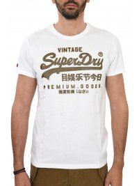 SUPERDRY SUPERDRY T-SHIRT ΚΜ ΣΤΑΜΠΑ ΛΕΥΚΟ