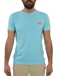 SUPERDRY SUPERDRY T-SHIRT ΚΜ LOGO ΣΙΕΛ