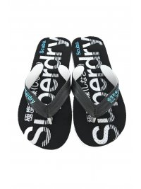 SUPERDRY SUPERDRY ΣΑΓΙΟΝΑΡΕΣ SCUBA PERFORATED FLIP FLOP ΜΑΥΡΟ