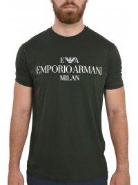 EMPORIO ARMANI EMPORIO ARMANI T-SHIRT LOGO MILAN ΠΡΑΣΙΝΟ