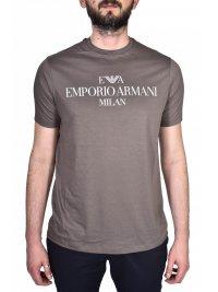 EMPORIO ARMANI EMPORIO ARMANI T-SHIRT LOGO MILAN ΓΚΡΙ