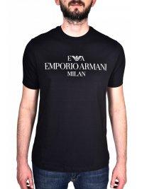 EMPORIO ARMANI EMPORIO ARMANI T-SHIRT LOGO MILAN ΜΠΛΕ