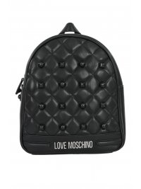 LOVE MOSCHINO LOVE MOSCHINO ΤΣΑΝΤΑ BACKPACK ΚΑΠΙΤΟΝΕ ΤΡΟΥΚΣ ΜΠΡΟΣΤΑ ΜΑΥΡΟ