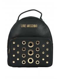 LOVE MOSCHINO LOVE MOSCHINO ΤΣΑΝΤΑ BACKPACK ΘΗΚΗ ΜΠΡΟΣΤΑ ΜΕ ΤΡΟΥΚΣ ΜΑΥΡΟ