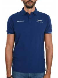 HACKETT HACKETT POLO SLIM FIT TAPE ASTON MARTIN SHOULDER ΜΠΛΕ