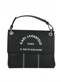 KARL LAGERFELD KARL LAGERFELD ΤΣΑΝΤΑ SHOULDER LOGO RUE ST GUILLAUME ΜΑΥΡΟ