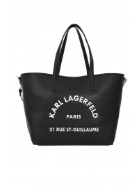 KARL LAGERFELD KARL LAGERFELD ΤΣΑΝΤΑ SHOPPING LOGO RUE ST GUILLAUME ΜΑΥΡΟ