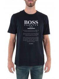 BOSS  BOSS BUSINESS T-SHIRT TIBURT 140 ΜΠΛΕ