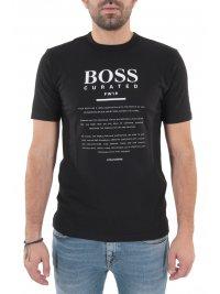 BOSS  BOSS BUSINESS T-SHIRT TIBURT 140 ΜΑΥΡΟ