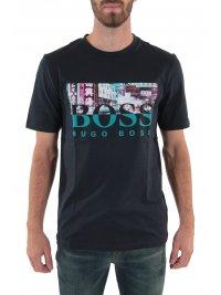 BOSS CASUAL BOSS CASUAL T-SHIRT TREK 4 ΜΠΛΕ