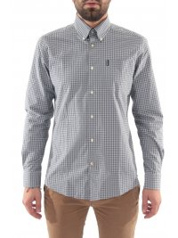 BARBOUR BARBOUR ΠΟΥΚΑΜΙΣΟ GINGHAM BUTTON DOWN TAILORED FIT ΚΑΡΩ ΓΚΡΙ