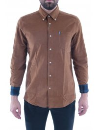 BARBOUR BARBOUR ΠΟΥΚΑΜΙΣΟ CORD ΚΟΤΛΕ BUTTON DOWN TAILORED FIT ΚΑΦΕ