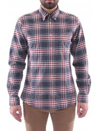 BARBOUR BARBOUR ΠΟΥΚΑΜΙΣΟ HIGHLAND BUTTON DOWN TAILORED FIT ΚΑΡΩ ΓΚΡΙ-ΚΟΚΚΙΝΟ
