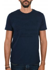 SUPERDRY SUPERDRY TSHIRT SHOP EMBOSSED LOGO ΜΠΛΕ