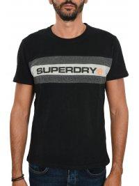 SUPERDRY SUPERDRY TSHIRT TROPHY LOGO ΜΑΥΡΟ