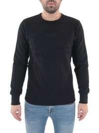 SUPERDRY SUPERDRY ΦΟΥΤΕΡ C-NECK SWEAT SHIRT SHOP EMBOSSED CREW ΜΑΥΡΟ