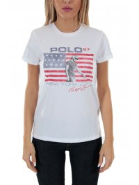RALPH LAUREN RALPH LAUREN T-SHIRT POLO 67 NEW YORK ΛΕΥΚΟ