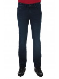 BOSS  BOSS CASUAL ΠΑΝΤΕΛΟΝΙ JEANS DELAWARE BC-L-P JOIN SLIM FIT KNIT DENIM ΜΠΛΕ