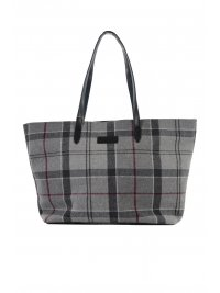 BARBOUR BARBOUR ΤΣΑΝΤΑ TOTE ΚΑΡΩ ΓΚΡΙ