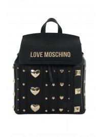 LOVE MOSCHINO LOVE MOSCHINO ΤΣΑΝΤΑ BACKPACK ΤΡΟΥΚΣ ΜΠΡΟΣΤΑ ΜΑΥΡΟ