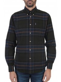 BARBOUR BARBOUR ΠΟΥΚΑΜΙΣΟ BUTTON DOWN TAILORED FIT ΚΑΡΩ LUSTLEIGH ΠΡΑΣΙΝΟ