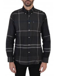 BARBOUR BARBOUR ΠΟΥΚΑΜΙΣΟ BUTTON DOWN TAILORED FIT ΚΑΡΩ DUNOON ΑΝΘΡΑΚΙ