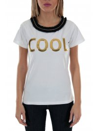 RELISH RELISH T-SHIRT COLLME  COOL ΛΕΥΚΟ