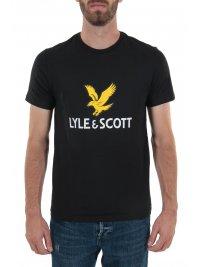 LYLE&SCOTT LYLE&SCOTT T-SHIRT  LOGO ΜΑΥΡΟ