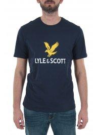 LYLE&SCOTT LYLE&SCOTT T-SHIRT  LOGO ΜΠΛΕ