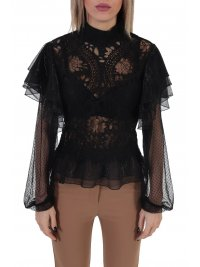TWINS TWINS TOP LACE ΜΑΥΡΟ