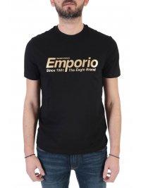 EMPORIO ARMANI EMPORIO ARMANI T-SHIRT LOGO THE EAGLE BRAND ΜΑΥΡΟ