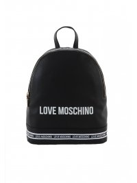 LOVE MOSCHINO LOVE MOSCHINO ΤΣΑΝΤΑ BACKPACK LOGO ΜΑΥΡΟ/ΛΕΥΚΟ