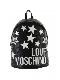 LOVE MOSCHINO LOVE MOSCHINO ΤΣΑΝΤΑ BACKPACK LOGO STARS ΜΑΥΡΟ
