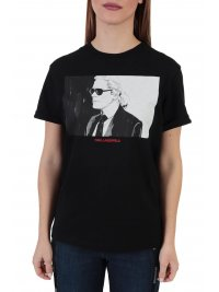 KARL LAGERFELD KARL LAGERFELD T-SHIRT LEGEND COLORBLOCK ΜΑΥΡΟ