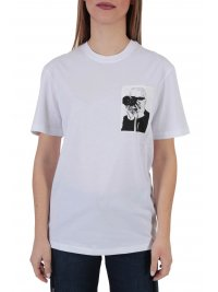 KARL LAGERFELD KARL LAGERFELD T-SHIRT LEGEND POCKET ΛΕΥΚΟ