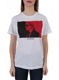 KARL LAGERFELD KARL LAGERFELD T-SHIRT LEGEND COLORBLOCK ΛΕΥΚΟ