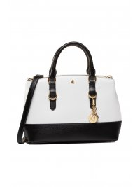 RALPH LAUREN RALPH LAUREN ΤΣΑΝΤΑ CROSSBODY CARRYOVER MINI ZIP ΛΕΥΚΟ/ΜΑΥΡΟ