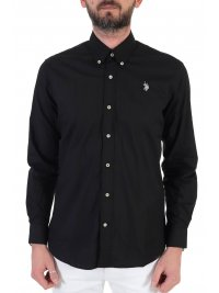 U.S. POLO ASSN U.S. POLO ASSN ΠΟΥΚΑΜΙΣΟ BUTTON DOWN REGULAR FIT KUSTAVI ΜΑΥΡΟ