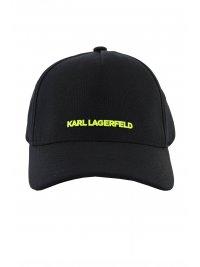 KARL LAGERFELD KARL LAGERFELD ΚΑΠΕΛΟ BASECAP LOGO FLEXFIT ΜΑΥΡΟ
