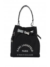 KARL LAGERFELD KARL LAGERFELD ΤΣΑΝΤΑ  BAGPACK RUE ST.GUILIAUME MEDIUM HOBO ΜΑΥΡΟ