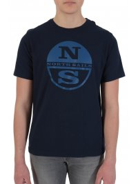 NORTH SAILS NORTH SAILS T-SHIRT BIG LOGO REGULAR FIT ΜΠΛΕ