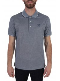 PAUL&SHARK PAUL&SHARK POLO LOGO DOUBLE MERCERIZED ΜΠΛΕ