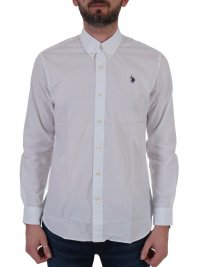 U.S. POLO ASSN U.S. POLO ASSN ΠΟΥΚΑΜΙΣΟ BUTTON DOWN REGULAR FIT KUSTAVI ΛΕΥΚΟ